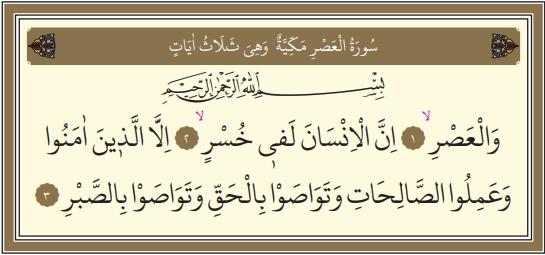 Asr Suresi Arapçası Anlamı, Asr Suresi Nelere Dikkat Çekilmektedir.
