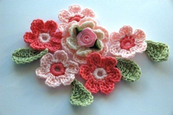 Yün örgü çiçek modelleri3.
